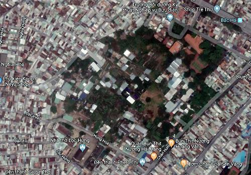 Khu vực vườn rau Lộc Hưng. Ảnh: Google Map.