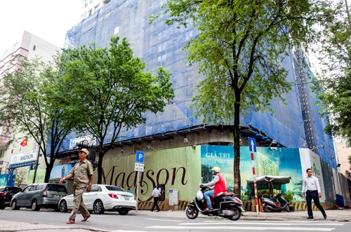 Dự án khu phức hợp ở số 15 đường Thi Sách. Ảnh: Thành Nguyễn.