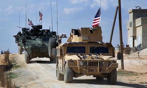 Lực lượng Mỹ triển khai ở miền bắc Syria hồi năm 2017. Ảnh: AP.