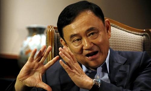 Thaksin tại Singapore tháng 2/2016. Ảnh: Reuters.