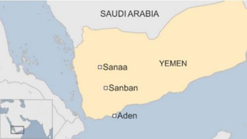 Vị trí thành phố Aden. Đồ họa: BBC.