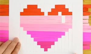 Cách đan trái tim, làm hộp quà từ giấy phù hợp với trẻ