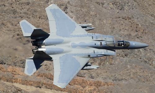 Tiêm kích F-15C Mỹ trong một chuyến bay huấn luyện. Ảnh: Wikipedia.