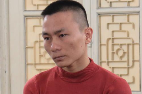 Bị cáo Hoàng tại phiên tòa sơ thẩm.
