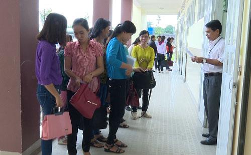 Hội thi giáo viên dạy giỏi các cấp thị xã Tân Uyên. Ảnh: tanuyen.binhduong.gov.vn