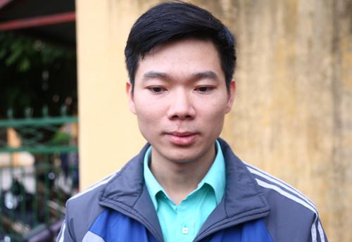 Bị cáo Hoàng Công Lương tại phiên tòa mở sáng 14/1. Ảnh: Phạm Dự
