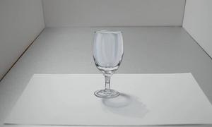 Vẽ ly thủy tinh 3D