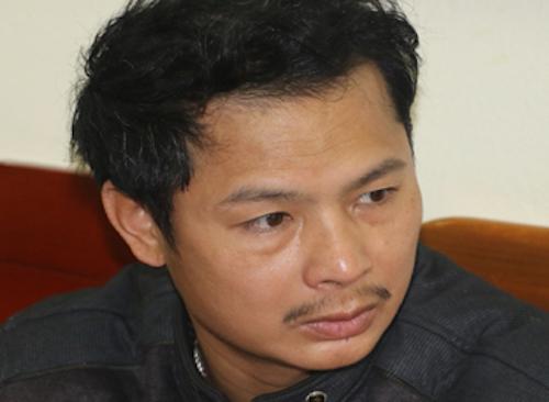 Đào Xuân Lâm tại cơ quan điều tra. Ảnh: Công an cung cấp.