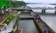 Khánh thành đường đi bộ lót sàn gỗ lim 64 tỷ đồng trên sông Hương