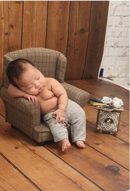 Dáng ngủ đáng yêu của bé.