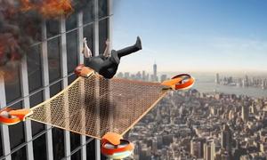 Thiết bị bay cứu người trong hoả hoạn ở các toà nhà cao tầng