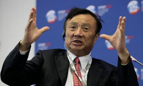 Người sáng lập Huawei Nhậm Chính Phi. Ảnh: SCMP.