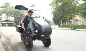 Xe đạp điện 3 bánh do họa sĩ Việt Nam chế tạo