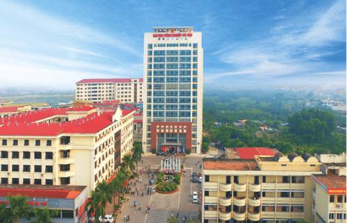 Khuôn viên Đại học Công nghiệp Hà Nội ở cơ sở 1 thuộc quận Bắc Từ Liêm, Hà Nội. Ảnh: HAUI