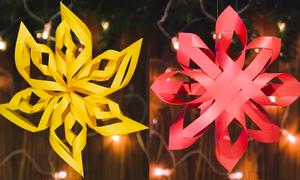 Cách cắt dán tạo hoa giấy 3D trang trí