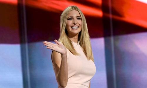 Ivanka Trump, con gái lớn của Tổng thống Mỹ Donald Trump. Ảnh: Xinhua.
