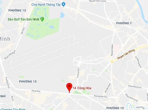 Tai nạn xảy ra gần cửa ngõ vào sân bay Tân Sơn Nhất.