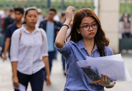 Thí sinh thi đánh giá năng lực tạiĐại học Quốc gia TP HCM nằm 2018. Ảnh: Quỳnh Trần