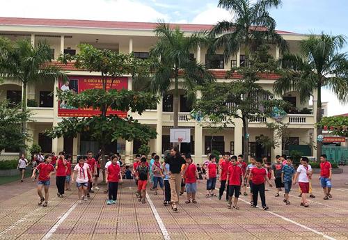 Học sinh trường Tiểu học Lê Hồng Phong (Hải Phòng).