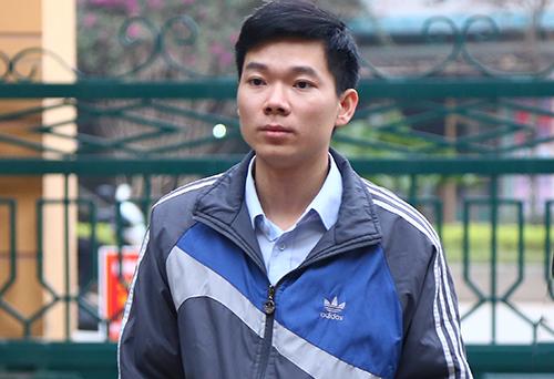 Hoàng Công Lương tới tòa ngày 16/1. Ảnh: Phạm Dự.