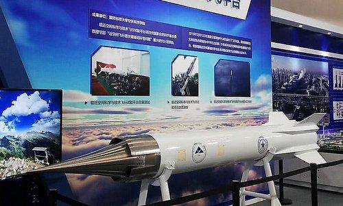 Nguyên mẫu tên lửa siêu vượt âmLingyun-1 được Trung Quốc ra mắt hồi tháng 5/2018. Ảnh: Twitter.