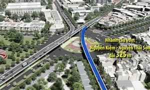 Nhánh cầu vượt cửa ngõ sân bay Tân Sơn Nhất chuẩn bị thông xe