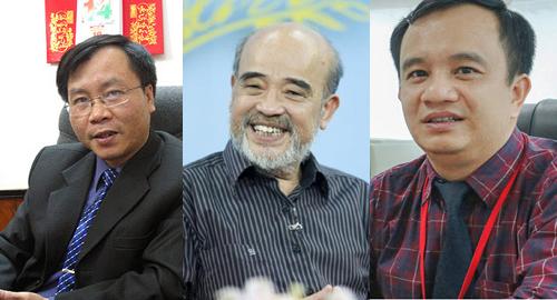 Ông Vũ Đình Ánh, ông Đặng Hùng Võ và ông Đặng Công Hoàn (từ trái sang) sẽ tham gia buổi tư vấn trực tuyến.