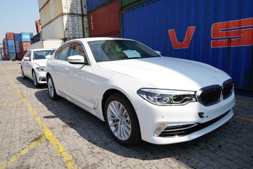 BMW series 5 thế hệ mới tại cảng VICT, Sài Gòn. Ảnh: CTV.