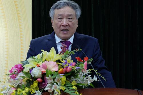 Chánh án Nguyễn Hòa Bình: Ảnh: V. Hùng.