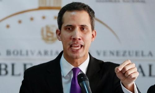 Lãnh đạo đối lập kiêm Chủ tịch Quốc hội Venezuela Juan Guaido. Ảnh: Reuters.