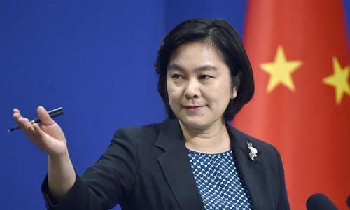 Phát ngôn viên Bộ Ngoại giao Trung Quốc Hoa Xuân Oánh. Ảnh: AFP.