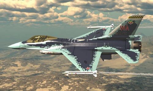 Họa tiết dự kiến được sơn trên tiêm kích F-16C Mỹ. Đồ họa: Aviationist.