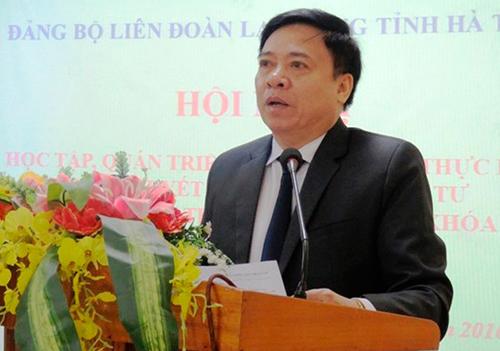 Ông Nguyễn Văn Thanh, Phó ban Nội chính tỉnh ủy Hà Tĩnh. Ảnh: T.H