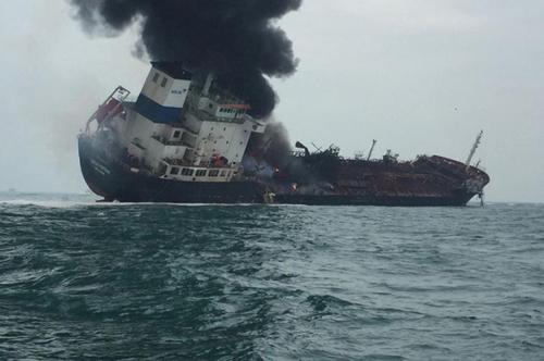 Vụ tai nạn khiến ba thuyền viên Việt Nam thiệt mạng. Ảnh: AFP.