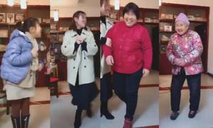 Thử thách '4 thế hệ' gây sốt ở Trung Quốc