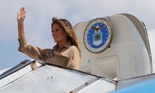 Đệ nhất phu nhân Melania Trump trong chuyến công tác tới quốc gia Đông Phi Malawi hồi năm 2018. Ảnh: AP.