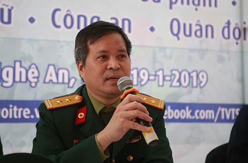 Trung tá Nguyễn Thái Ngọc - Trợ lý tuyển sinh Học viện Quân y. Ảnh: Nguyễn Hải.
