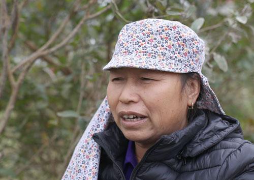 Bà Đinh Thị Cảnh (62 tuổi) ở xã Hồng Kỳ. Ảnh: Tất Định