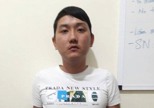 Nguyễn Đức Tuấn tại cơ quan điều tra. Ảnh: C.A.