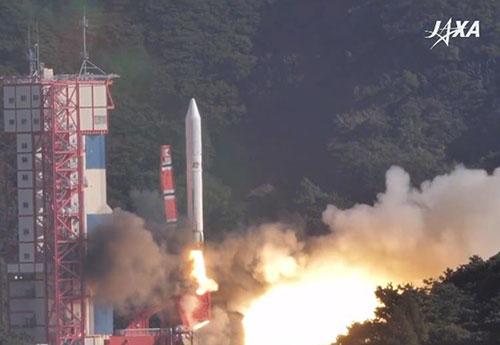Tên lửa Epsilon mang theo 7 vệ tinh phóng vào quỹ đạo sáng 18/1 tại Nhật Bản. Ảnh chụp màn hình.