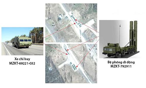 Vị trí xe chỉ huy và bệ phóng di động thuộc tổ hợp tên lửa đánh chặn tên lửa đạn đạo và diệt vệ tinh A-235 của Nga. Ảnh: Defence Blog.