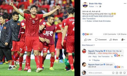 Câu nói của thủ môn Việt Nam Không phải ngày hôm nay lên Fox Sports - 1