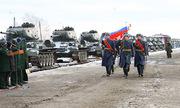 Lễ đón xe tăng cổ T-34 Lào tại Nga