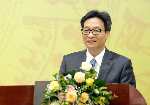 Phó thủ tướng Vũ Đức Đam phát biểu tại hội nghị. Ảnh: Anh Tuấn.