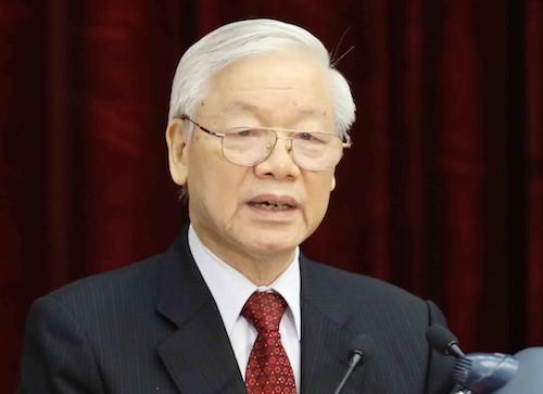 Tổng Bí thư Nguyễn Phú Trọng. Ảnh: TTX
