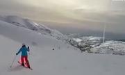 Người trượt tuyết quay cảnh 'Vòm sắt' Israel đánh chặn tên lửa Syria