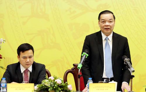 Bộ trưởng Khoa học và Công nghệ Chu Ngọc Anh phát biểu tại hội nghị. Ảnh: Anh Tuấn.