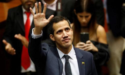 Chủ tịch quốc hội Venezuela Juan Guaido. Ảnh: AFP.