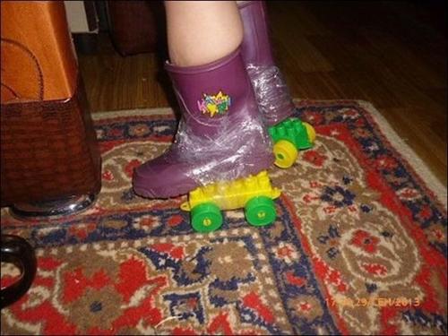 Khi không có điểu kiện mua đôi giày như ý.