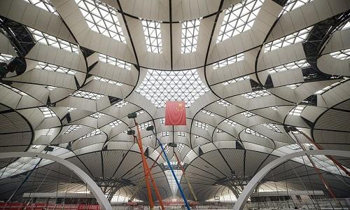 Nhà ga của sân bay quốc tế Bắc Kinh, Đại Hưng. Ảnh: Xinhua.